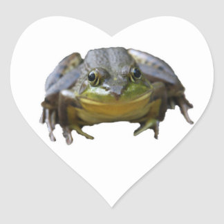 Heart Green Frog Stickers