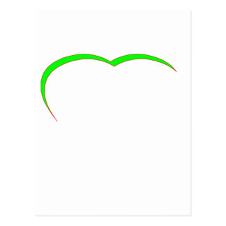 Heart Green - Red Curve The MUSEUM Zazzle Gifts Postcard