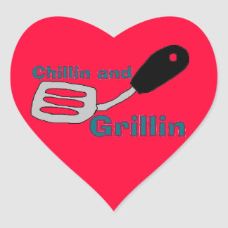 heart grilling stickers
