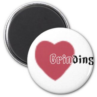 Heart Grinding 2 Inch Round Magnet