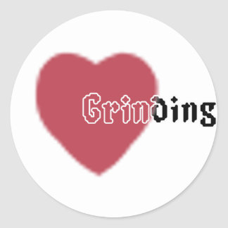Heart Grinding Classic Round Sticker