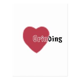 Heart Grinding Postcard