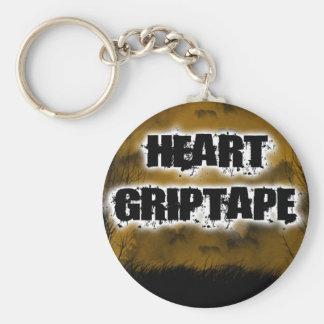 Heart Grip Night Basic Round Button Keychain