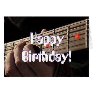 Heart Guitar Birthday Card