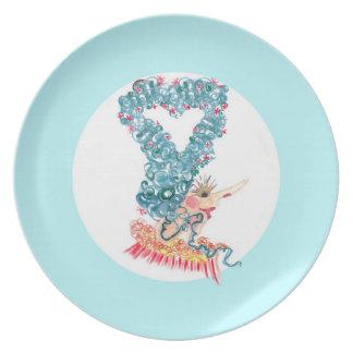 heart hair plate