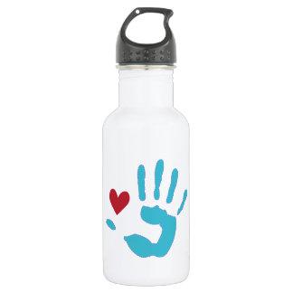Heart & Hand 18oz Water Bottle