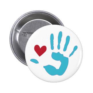 Heart & Hand 2 Inch Round Button