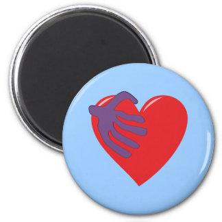 Heart hand veins heart hand blood vessels magnet
