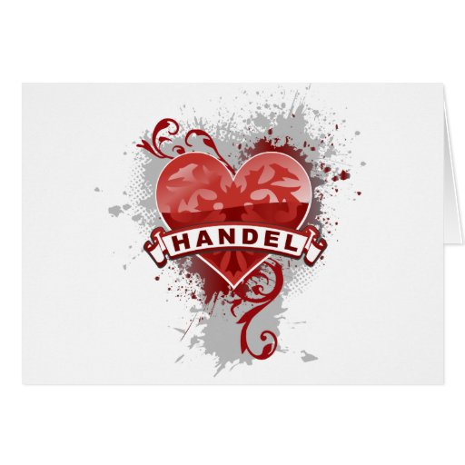 Heart Handel Greeting Card