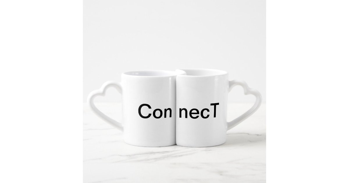 Connecting Coffee Mugs Cups Pair Two