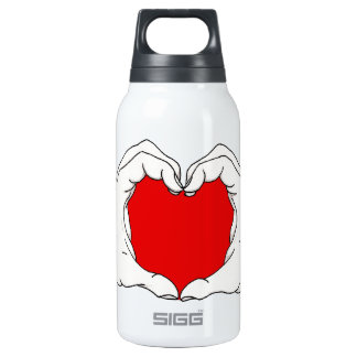 Heart Hands Insulated Water Bottle