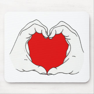 Heart Hands Mouse Pad