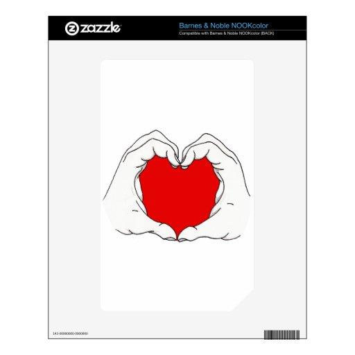 Heart Hands Skins For NOOK Color