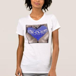 Heart Hands with Honduras water Flag T-Shirt