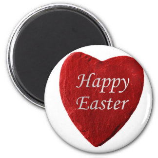 Heart happy Easter 2 Inch Round Magnet