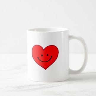 Heart  (Happy Face) Classic White Coffee Mug