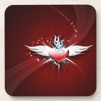 Heart Has Wings Beverage Coaster