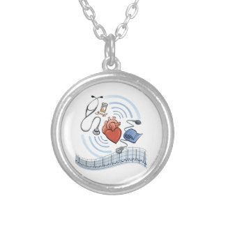 Heart Health Round Pendant Necklace
