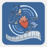 Heart Health Square Stickers
