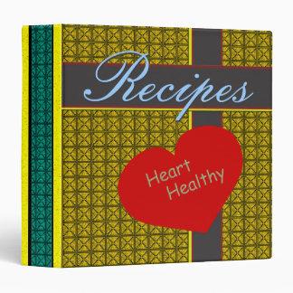 Heart Healthy Retro Modern Recipes Binder