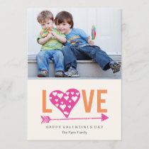 Heart Heart A7 Valentines Day Photo Card - PINK