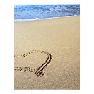 Heart Hearts Beach Sand Tropical Paradise Destiny Personalized Letterhead