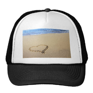Heart Hearts Beach Sand Tropical Paradise Destiny Trucker Hat