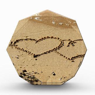 Heart Hearts love custom personalize Anniversaries Acrylic Award