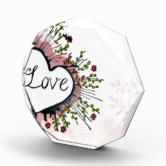 Heart Hearts love custom personalize Anniversaries Award