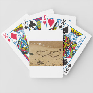 Heart Hearts love custom personalize Anniversaries Bicycle Playing Cards