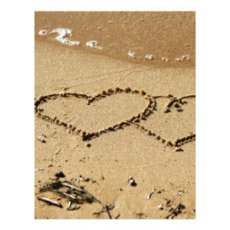 Heart Hearts love custom personalize Anniversaries Letterhead