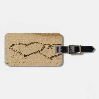 Heart Hearts love custom personalize Anniversaries Luggage Tag
