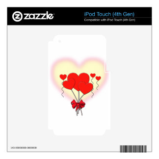 heart hearts love romantic custom personalize decals for iPod touch 4G
