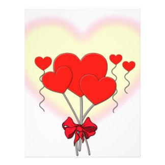 heart hearts love romantic custom personalize letterhead