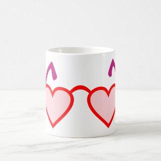 Heart hearts rose-pink eyeglasses rose colored gla coffee mug
