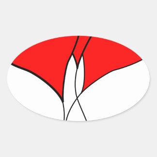 heart hearts valentine wife sweetheart girlfriend oval sticker