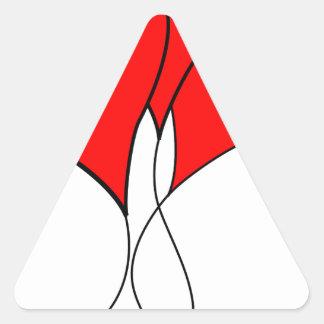 heart hearts valentine wife sweetheart girlfriend triangle sticker