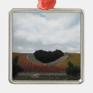 Heart Hill at Niner Estates, in Autumn Metal Ornament