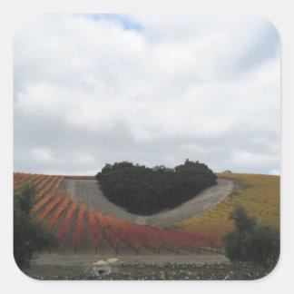Heart Hill at Niner Estates, in Autumn Square Sticker