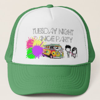 heart, Hippie-13, paintsplatter, TUESDAY NIGHTD... Trucker Hat