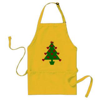 Heart Holiday Tree Adult Apron