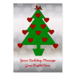 Heart Holiday Tree Large Business Cards (Pack Of 100)