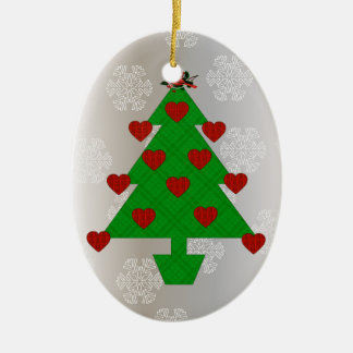 Heart Holiday Tree Christmas Ornament
