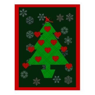Heart Holiday Tree Postcard