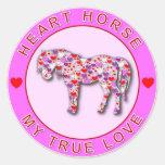 HEART HORSE CLASSIC ROUND STICKER