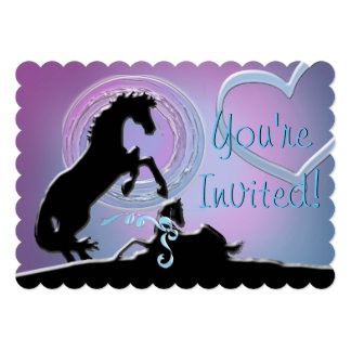Heart Horse Colt Shower Card