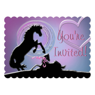 Heart Horse Filly Shower Card