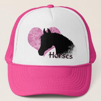 Heart Horse III (pink camo) Trucker Hat
