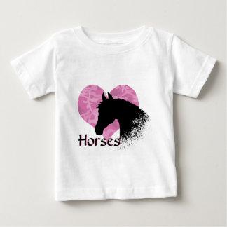 Heart Horse (pink camo) Baby T-Shirt