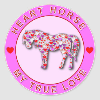 HEART HORSE STICKERS